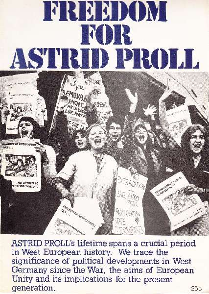 Titelbild: Freedom for Astrid Proll