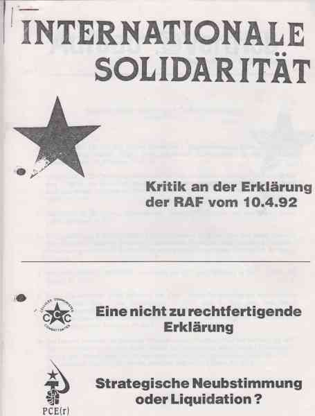Titelbild: Internationale Solidarität