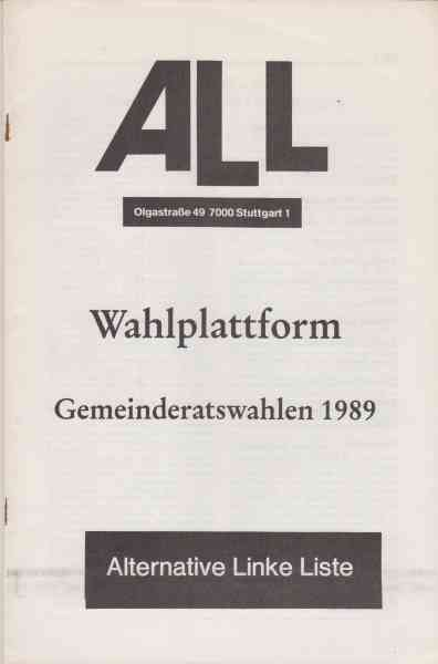 Titelbild: ALL Wahlplattform