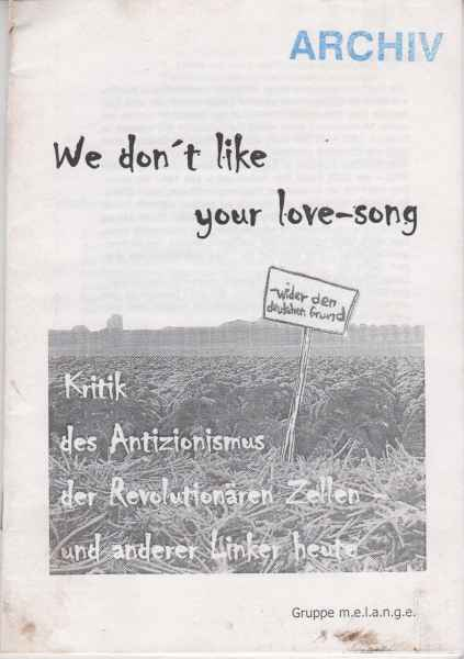 Titelbild: We dont like your love song
