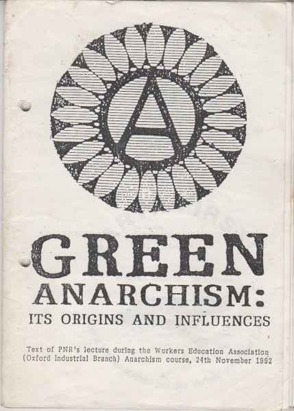 Titelbild: Green Anarchism: it origins and influence