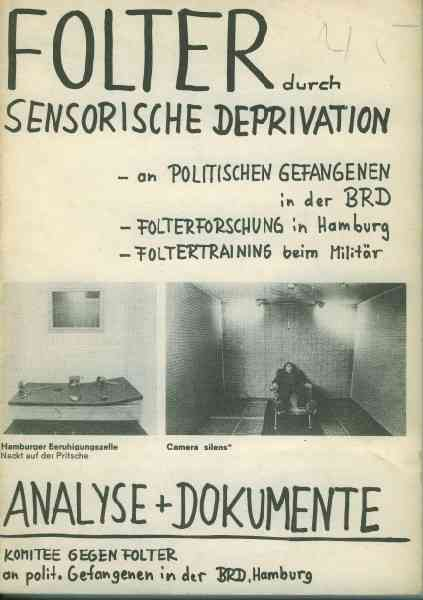 Titelbild: Folter durch Sensorische Deprivation